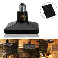 25/50/75/100/150/250W E27 Black Ceramic Heat Emitter Reptile Pet Bulb Crawling Light AC220V