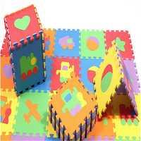 10pcs EVA Foam Baby Play Mats Puzzle Non-slip Kids Game Crawling Playmat