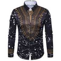 National Pattern Printing Button up Fashion Designer Shirts