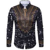 National Pattern Printing Button up Fashion Designer Shirts