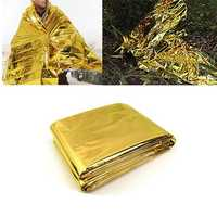 IPRee™ 140x210CM Emergency Thermal Survival Blanket Waterproof Foil Rescue First Aid Mat