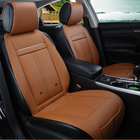 3 In 1 Leather Car Cooling Warm Heated Massage Chair Seat Cushion Universal Auto Seat Cover
