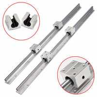 2pcs SBR16 750mm Linear Rail Shaft Rod with 4pcs SBR16UU Bearing Block