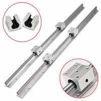 2pcs SBR16 750mm Linear Rail Shaft Rod with 4pcs SBR16UU Bearing Block