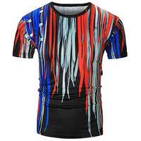 Personalized Fashion 3D Shoelace Printed T-shirt Men's Casual Round Collar Short Sleeve T-shirt