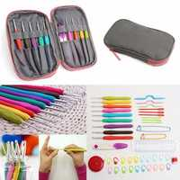Crochet Needle Hooks Set Organiser Case AccBearded Needle Suit With 45 Piece Attach One Storage Bag
