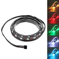 Coolmoon 50cm Magnetic RGB LED Strip Light with 30pcs LED for Desktop PC Computer Case