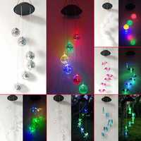 Solar Powered Wind Chimes Light Lamp Hanging LED Garden Yard Color Changing
