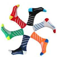Riding Cushion Crew Sock Breathable Anti Skid Athletic Socks