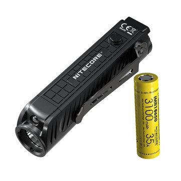 NITECORE P18 1800 Lumen Compact Flashlight with Silent Tactical Switch and Auxiliary Red LED