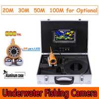 CR110-7 Under Water Fishing Camera System with 7 inch LCD Monitor 12pcs White LED Double Rod Camera