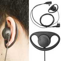 2Pin D Shape PTT Earpiece Headset with Boom Mic for Motorola Radio Walkie Talkie