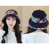 Women Polyester Ethnic Style UV Protection Bucket Cap