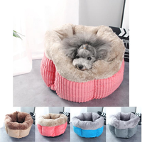 Soft Warm Fleece Pet Dog Cat Bed for Small Animals Bed House Cushion With Removable Pet Mat Nest