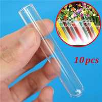 10pcs 12x75mm Lab Chemistry Glassware Borosilicate Glass Teaching Test Tubes