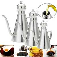 0.35L/0.5L/1L Stainless Steel Olive Oil Vinegar Dispenser Jar Kitchen Bottles Pot