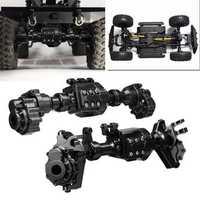 2PCS CNC Machined Alloy Front Rear Portal Axle Housing Black for Traxxas TRX-4 Crawler Rc Car Parts