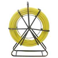 6mm 130m Fish Tape Fiberglass Wire Cable Running Rod Duct Rodder Fishtape Puller
