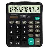 CTTTZEN 12 Digits Calculator Solar Battery Light Powered Dual Power Drive Office School Equipment