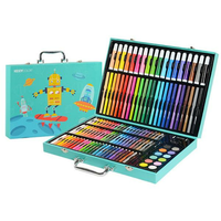 KIDDYCOLOR 130 Children's Stationery Gift Watercolor Paint Learning Suit