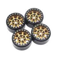 4PCS 1.9inch Aluminum Beadlock Wheel Hubs Rims for 1/10 Rc Crawler Axial Scx10 II D90 Car Parts