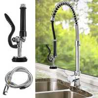 Commercial Kitchen Pre-Rinse Tap Spray Head Sprayer Faucet with Flexible Hose High Pressure