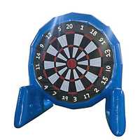 3m High Popular Game Giant Inflatable Soccer Foot Dart Board With Air Blower