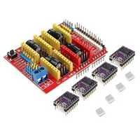 CNC Shield + 4 X DRV8825 Driver Kit For Arduino 3D Printer