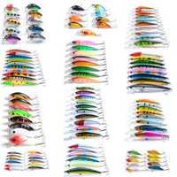 ZANLURE 109 pcs/ set Lot Wobbler Minnow Bass Fishing Lures Crankbaits Tackle Steel Hooks