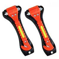 2PC Car Safety Hammers Emergency Escape Tool With Car Window Breaker And Seat Belt Cutter