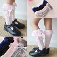 Pretty Baby Toddler Kids Girl Cotton Stocking Lace Knee High Socks 9 months to 8 years