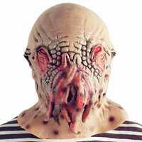 Halloween Scary Head Mask Alien Horror Creepy Cosplay Ghost Mischief Helmet Prop