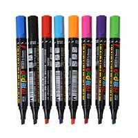 Genvana 5mm 8 Color Per Set Marker Pen for White Board Erasable Repeated Filling