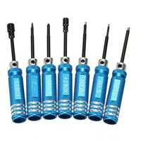 7PCS Black/Blue Stainless Steel Hex Screwdriver Screwdriver Kit Repairing Hand Tool