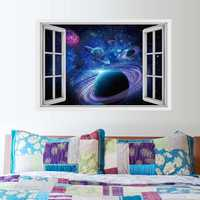 Miico 3D Star Bright Planet Bedroom Living Room Wall Stickers Home Decor Mural Art Removable Planet Wall Decals