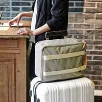 Contracted Style Men Fashion Canvas Luggage Bag Waterproof Storage Bag Handbag Shoulder Bag Travel