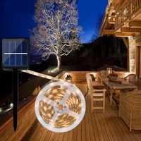 ARILUX® 0.7W Solar Powered SMD2835 8 Modes RGB Warm White Waterproof LED Holiday Strip Light DC2V