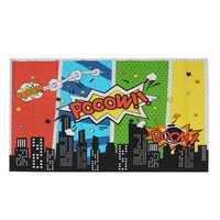 5x7FT 9x6FT Vinyl Superhero Cartoon City Boom Pooow Photography Backdrop Background Studio Prop