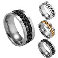 Rotating Chain Finger Rings