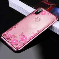 Bakeey Diamond Plating Clear Soft TPU Flower Protective Case For Xiaomi Mi A2 Lite / Redmi 6 Pro
