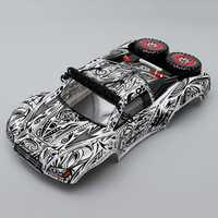 Killerbody 1/10 RC Car Body Shell Finished Short Course Truck Tattoo Graphics For Traxxas/HPI/AE