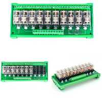 TKG2R-1E-K1024 10 Channel Relay Module PLC Amplification Board Controller DC 12V/DC 24V