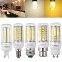ARILUX® E27 E14 B22 GU10 G9 3W 4W 5W SMD5050 LED Corn Light Bulb for Home Decoration AC220V