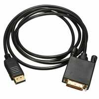 1.8M Display Port to 24 + 1 pin DVI Male Video Adapter Cable