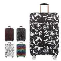 Honana Graffiti Style Elastic Luggage Cover Trolley Case Cover Durable Suitcase Protector for 18-32 Inch Case Warm Travel Accessories