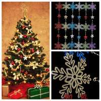 Christmas Star Snowflake Garland Hanging Pendant Tree Party Window Door Decoration
