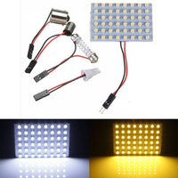 T10 1210/3528 48SMD Panel Interior Dome Map RV Trailer Light White Warm White