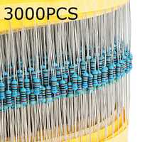 3000pcs 30 Kinds Value 1% 1/4W Metal Film Resistor Assorted Kit 100pcs Each Value
