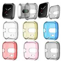 KALOAD TPU Shell Edge Protection Screen Watch Protector Case Cover for Fitbit Versa Lite