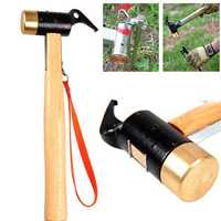 Selpa Outdoor Camping Copper Mallet Brass Hammer For Tent Pegs Nail Puller Survival Tool